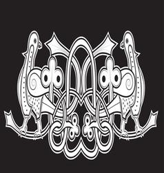 black dove vector image vector image
