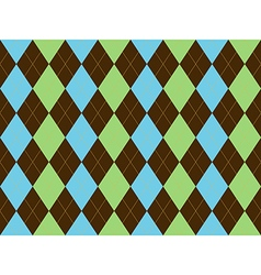 Brown green blue argyle seamless pattern vector image vector image