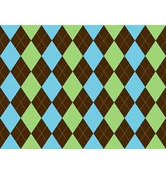 Brown green blue argyle seamless pattern vector