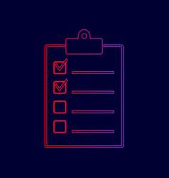 Checklist sign line icon vector