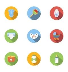 Child icons set flat style vector image
