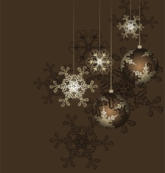 Christmas decoration with stars vector image vector image