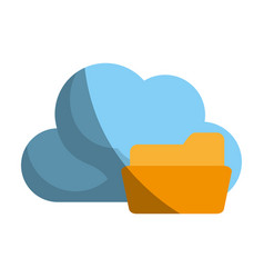 Cloud storage related icon image vector