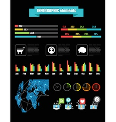 Color infographic elements vector