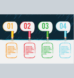 Color pencil template background design vector
