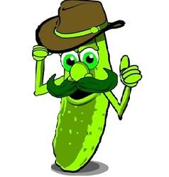 Cowboy pickle vector