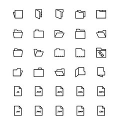 Files and folders 2 vector