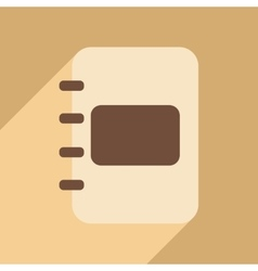 Flat with shadow icon and mobile application diary vector