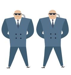 Formidable security professionals secret service vector