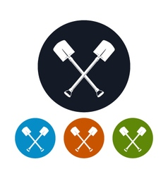 Icon of a crossed shovels vector