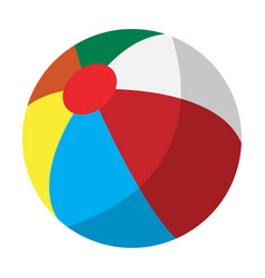 Isolated beach ball vector