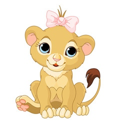 Lion girl cub vector