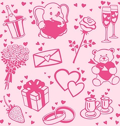 Love patterns set vector image vector image