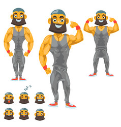 man character for your scenes funny cartoon vector image vector image