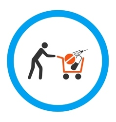 Medical Shopping Rounded Icon vector image