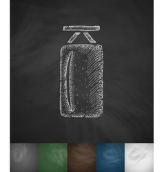 Punching bag icon hand drawn vector