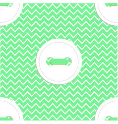 seamless pattern in green and white colors vector image vector image