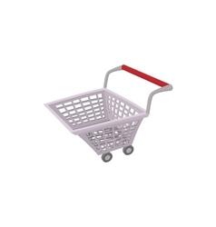 Shopping cart icon cartoon style vector image vector image