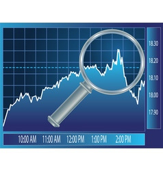 stock market vector image