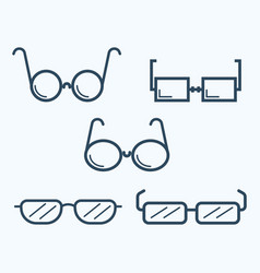 sunglasses icon set symbol vector image vector image