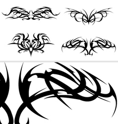 Tribal tattoo designs set vector