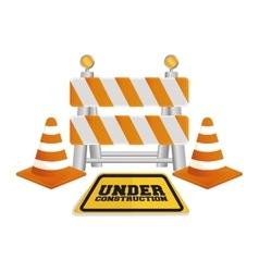 Under construction barrier design vector