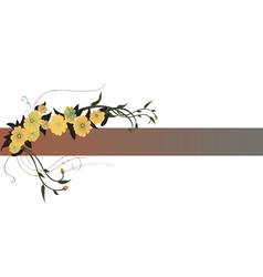 Vector illustraition of elegant floral border vector