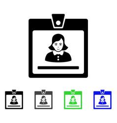 Woman badge flat icon vector