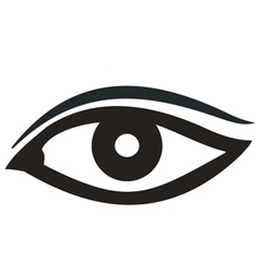 Eye icon black vector