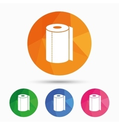 Paper towel sign icon kitchen roll symbol vector