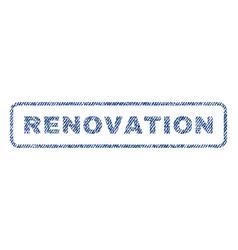 Renovation textile stamp vector