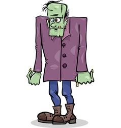 halloween frankenstein cartoon vector image