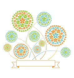 Floral Fireworks vector image