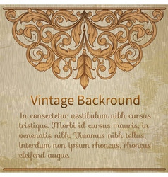 Vintage template with vintage elements vector