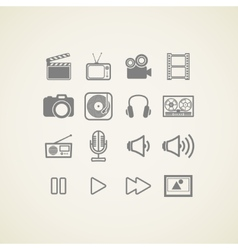 Icons with creative industry items vector