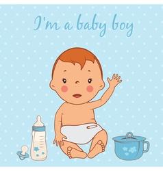 cute baby boy vector image
