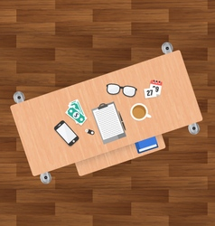 Flat desk design vector