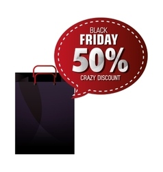 Black friday shopping season vector