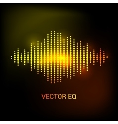 Single colorful eq equalizer sound audio vector