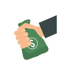 Money bag icon money and financial item vector