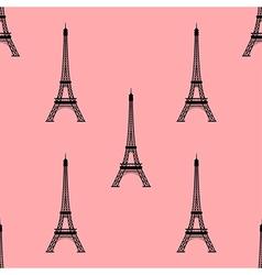 Eiffel tower paris france seamless background vector