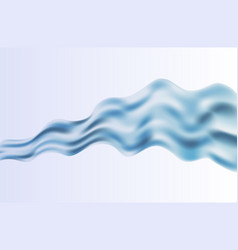 Abstract blue wave on background vector