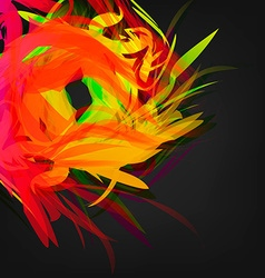 Abstract Colored Feathers vector image vector image