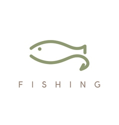 abstract design template of fishing with hook vector image