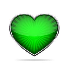 Abstract heart button vector