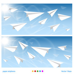 banner flights vector image