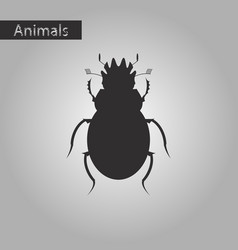 Black and white style icon of scarab vector