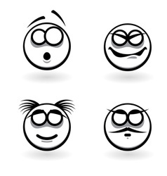 cartoon of abstract emotions vector image vector image