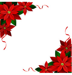 christmas decoration on white vector image vector image