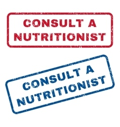 Consult a nutritionist rubber stamps vector